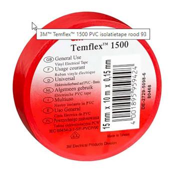 3m temflex eristysteippi 15 mm 10 m punainen - 3M - kuva 5