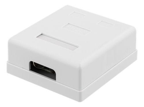 DELTACO suojattu datarasia pinta-asennukseen, FTP, 2xRJ45, Cat6a, valk - DELTACO - kuva 2