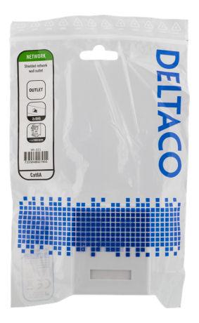 DELTACO suojattu datarasia pinta-asennukseen, FTP, 2xRJ45, Cat6a, valk - DELTACO - kuva 4