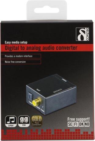 Äänen muunnin digitaalisesta analogiseen, 2xRCA, S/PDIF - DELTACO - kuva 4
