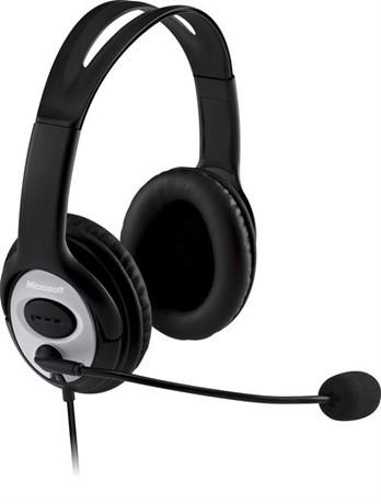 Microsoft LifeChat LX-3000, korvakuulokkeet, USB, musta - Microsoft - kuva 1