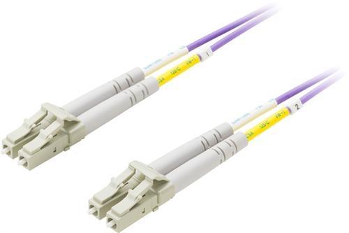 DELTACO fiberkablage, LC - LC, 50/125, OM4, duplex, multimode, 0,5m - DELTACO - kuva 1