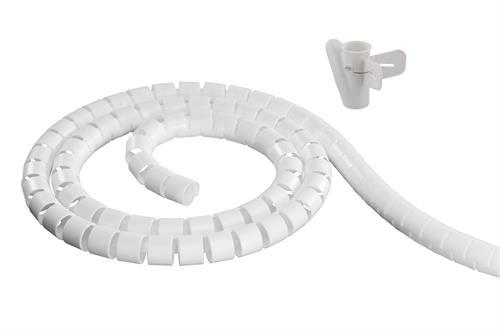 DELTACO Kaapelipiilo nylonista, 25mm halk., 5m, valkoinen - DELTACO - kuva 1