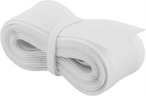 DELTACO Kaapelisukka nylonista, tarranauha, 5m, valkoinen - DELTACO - kuva 2