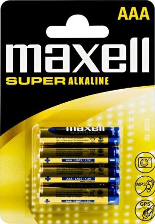 Maxell paristot AAA (LR03) Super Alkaline, 1,5V, 4-pakkaus - maxell - kuva 1