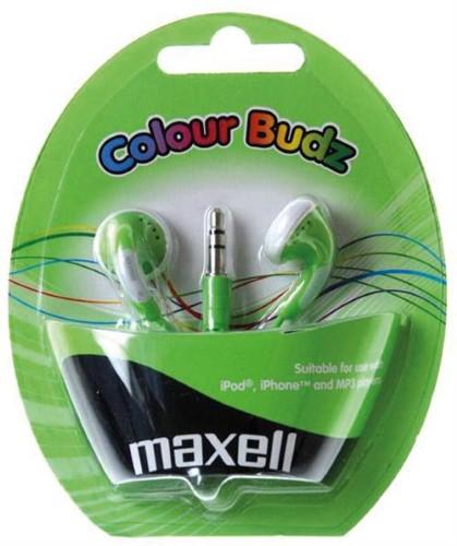 Maxell Colour Budz nappikuulokkeet, vihreä - maxell - kuva 1