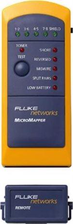 Fluke MicroMapper, kaapelitesteri RJ45, äänigeneraattori, kelt/sin - FLUKE - kuva 1