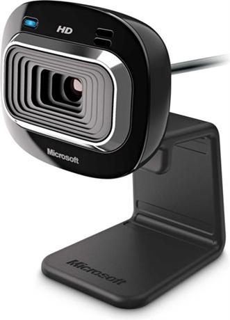 Microsoft LifeCam HD-3000, verkkokamera, USB, musta - Microsoft - kuva 1