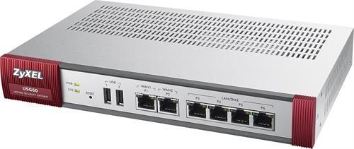 ZyXEL USG 60 Firewall Appliance 10/100/1000, 4x LAN/DMZ, 2x WAN - ZyXEL - kuva 1
