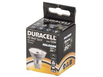 Duracell GU10 Spot Lamp 40W Dimmable 300lm | 0884620008840 | Duracell
