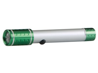 Grundig LED Tech Aluminium/Green Flashlight 13,5cm